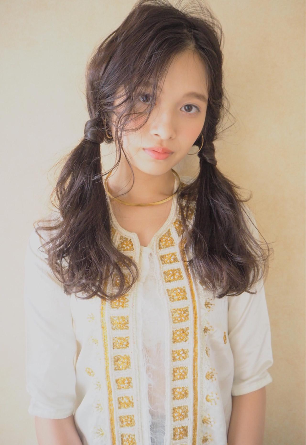 ヘアアレンジ ナチュラル くせ毛風 外国人風 ヘアスタイルや髪型の写真・画像