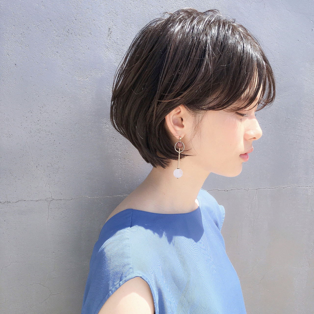 大人かわいい 色気 前髪あり ゆるふわ ヘアスタイルや髪型の写真・画像 | ショートボブの匠【 山内大成 】『i.hair』 / 『 i. 』 omotesando