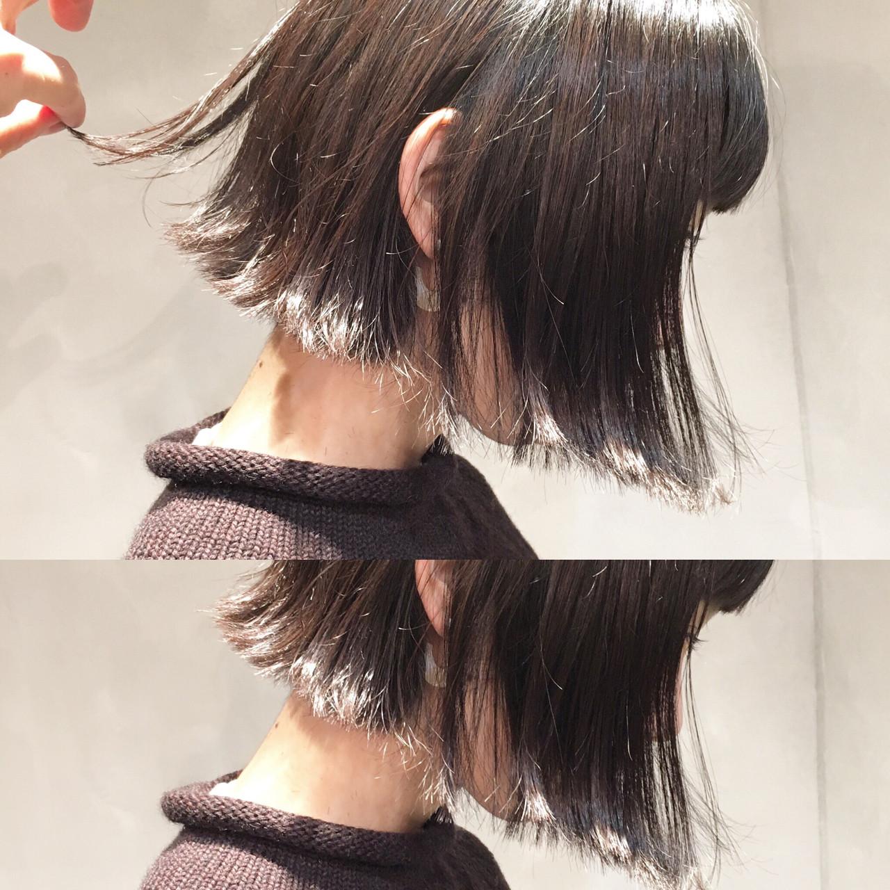 こなれ感 フリンジバング ボブ 小顔 ヘアスタイルや髪型の写真・画像 | 日野 達也 / GO TODAY  SHAiRE SALON