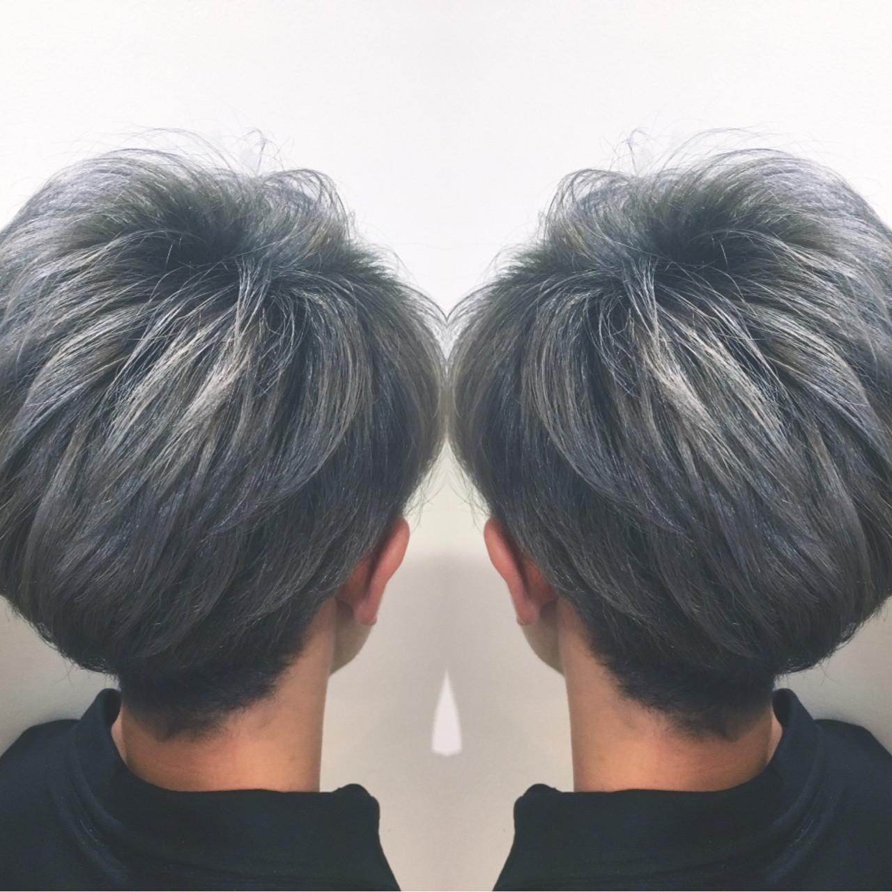 ハイライト ストリート グラデーションカラー アッシュ ヘアスタイルや髪型の写真・画像 | 筒井 隆由 / Hair salon mode