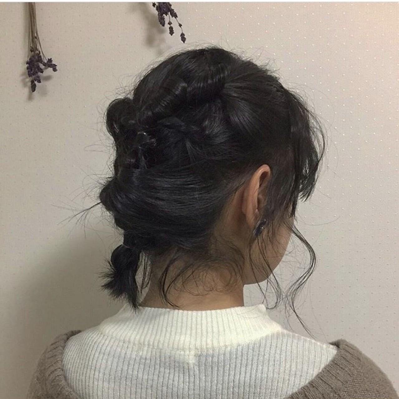アンニュイ ボブ ヘアアレンジ ナチュラル ヘアスタイルや髪型の写真・画像