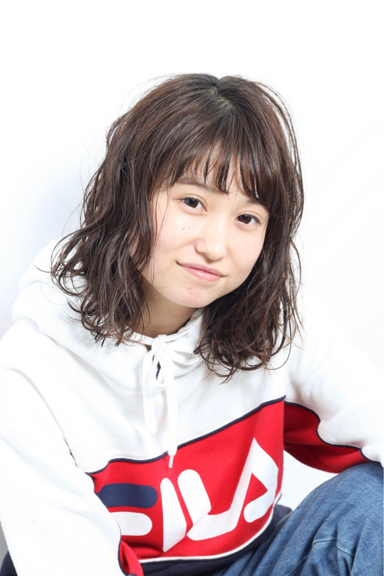 かわいい ボブ 内巻き 外ハネ ヘアスタイルや髪型の写真・画像 | 松永瑞樹 / Ash浜田山