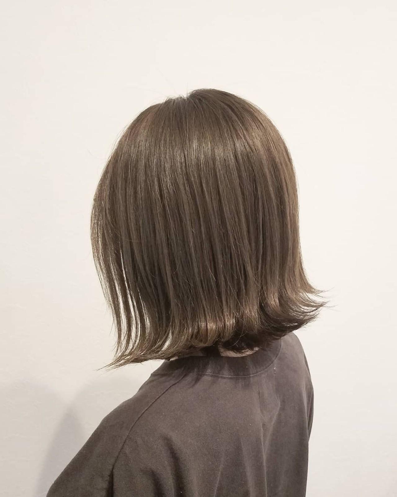 秋 女子力 ボブ 透明感 ヘアスタイルや髪型の写真・画像