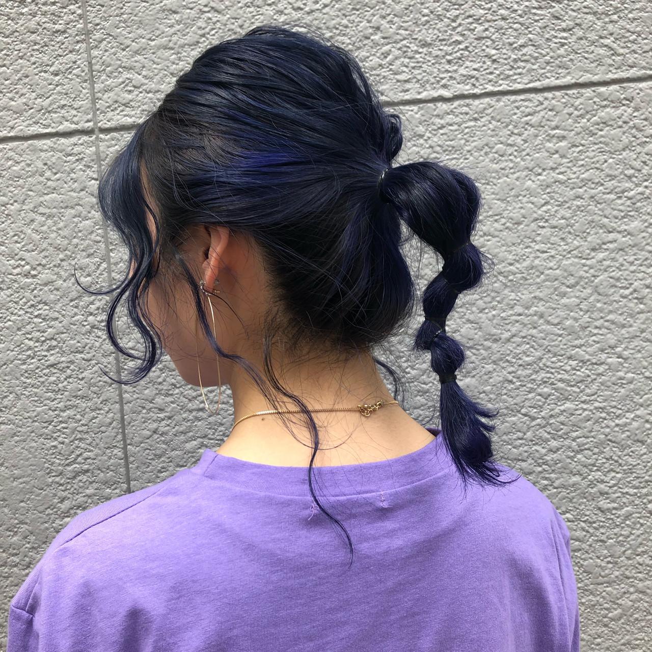 ミディアム ガーリー ヘアアレンジ ブリーチカラー ヘアスタイルや髪型の写真・画像