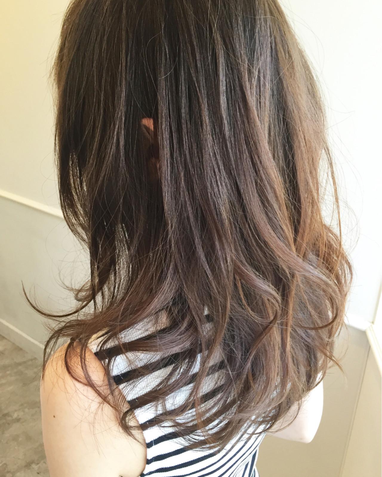 フェミニン グラデーションカラー ストリート ハイライト ヘアスタイルや髪型の写真・画像