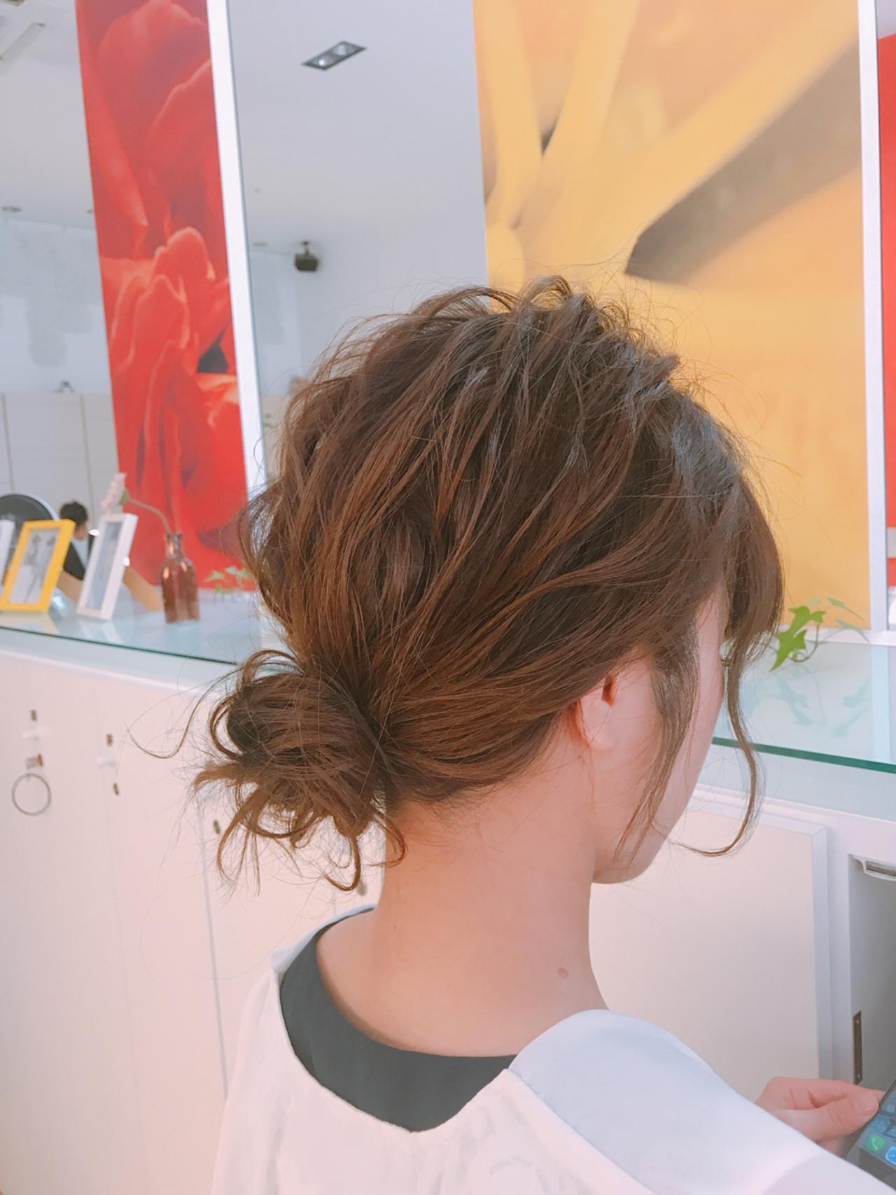 ミディアム 成人式 フェミニン 結婚式 ヘアスタイルや髪型の写真・画像 | 永井野 健人 / F.AVEDA 木の葉モール橋本