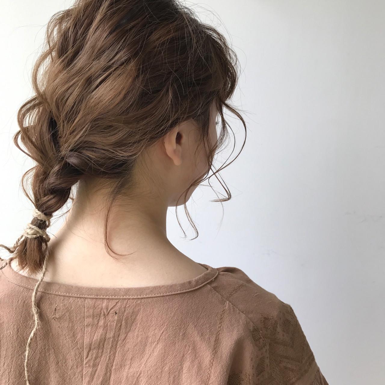 ハーフアップ フリンジバング ショート 簡単ヘアアレンジ ヘアスタイルや髪型の写真・画像 | 佐々木拓巳 / GARDEN harajuku