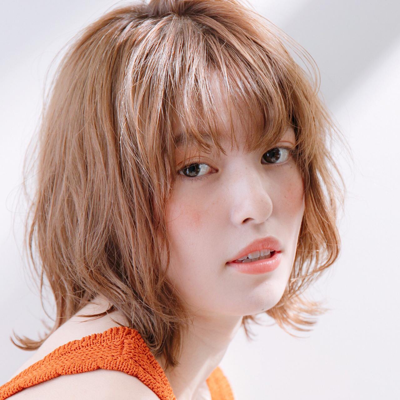 ミディアム スポーツ ヘアアレンジ アンニュイほつれヘア ヘアスタイルや髪型の写真・画像
