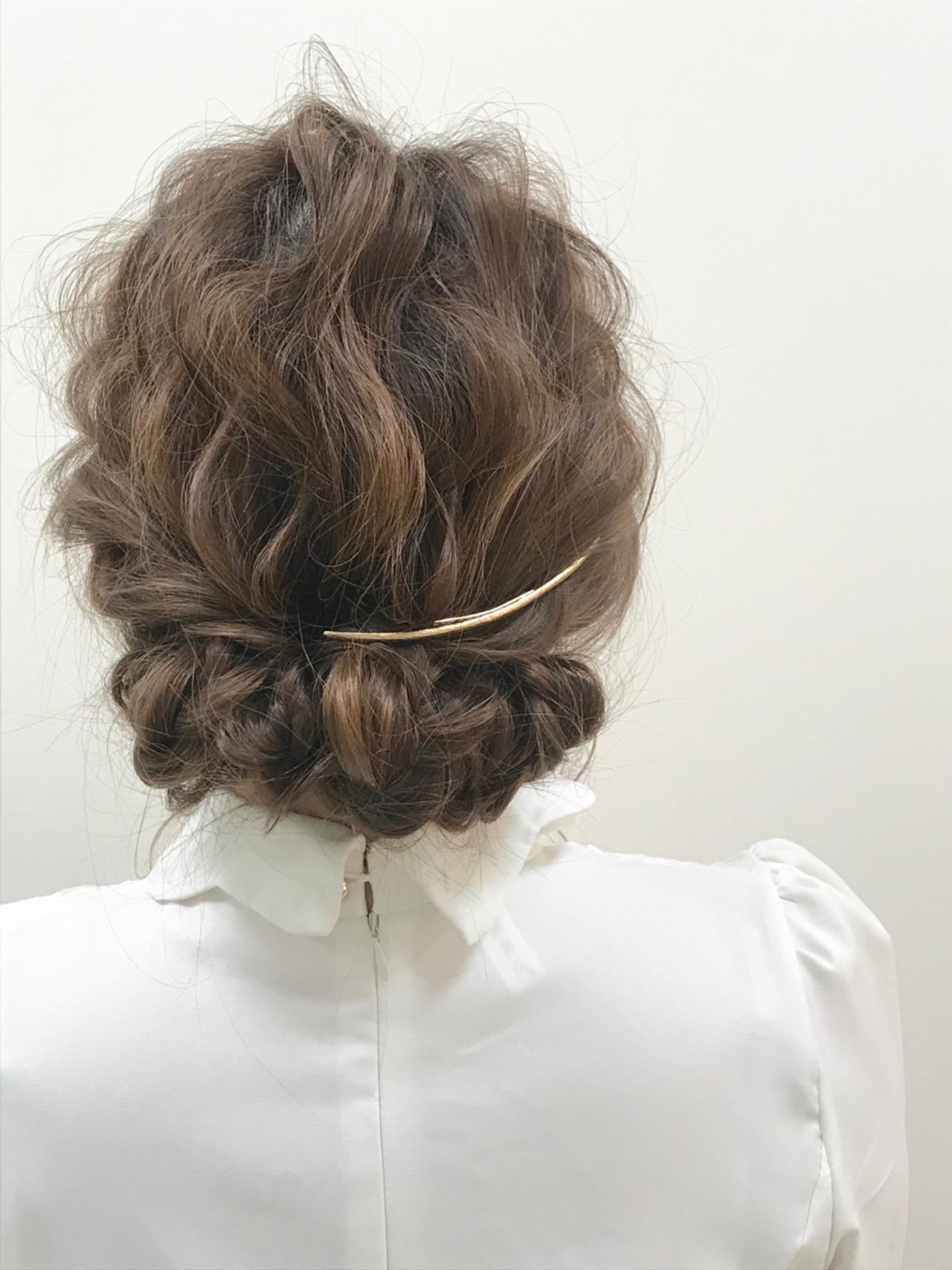 ゆるふわ ロング 結婚式 ギブソンタック ヘアスタイルや髪型の写真・画像