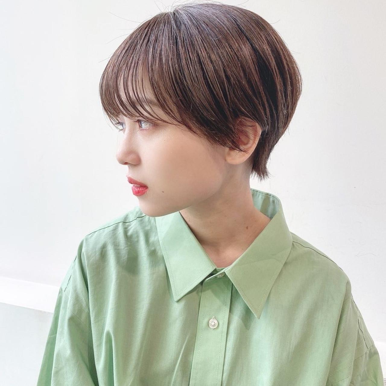 ショートヘア ショート グレージュ ショートボブ ヘアスタイルや髪型の写真・画像 | 矢野佑太郎 / GARDEN harajuku