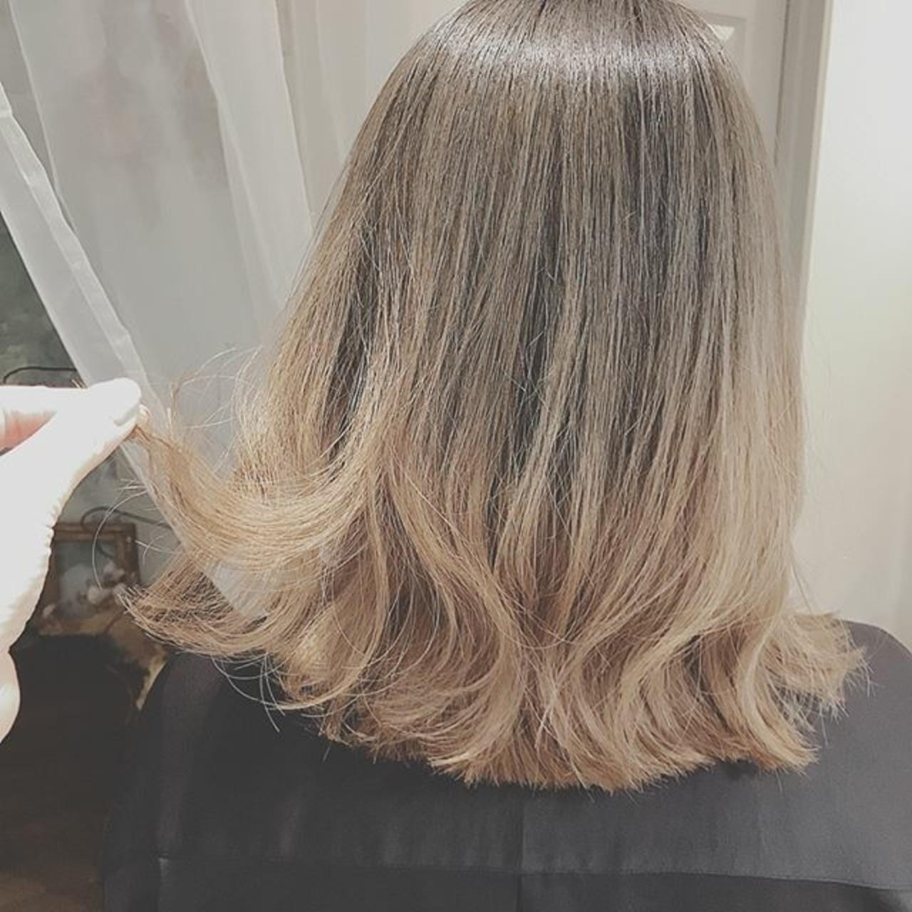 フェミニン ゆるふわ ボブ こなれ感 ヘアスタイルや髪型の写真・画像 | 浦川由起江 / nanon
