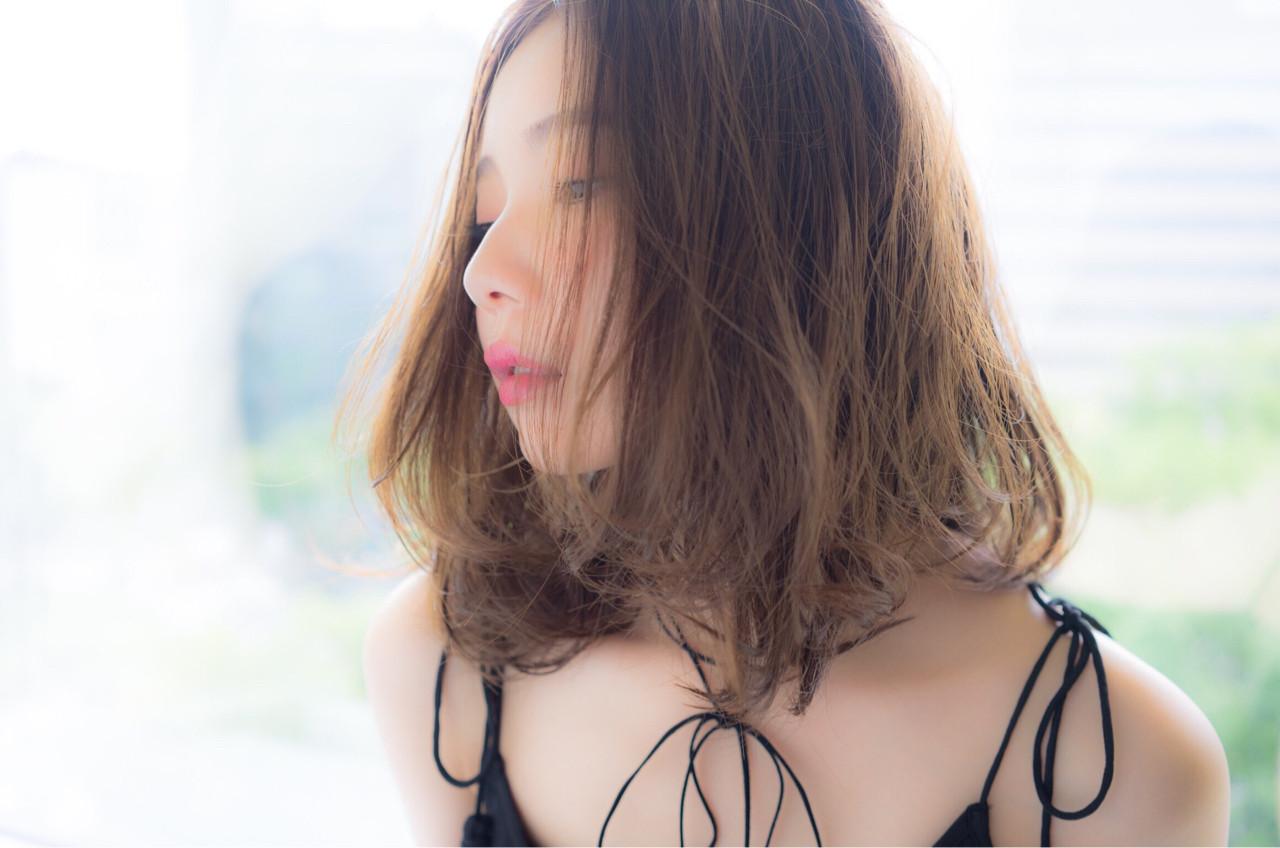 ガーリー ミディアム ゆるふわ 大人かわいい ヘアスタイルや髪型の写真・画像 | Rina Otani /
