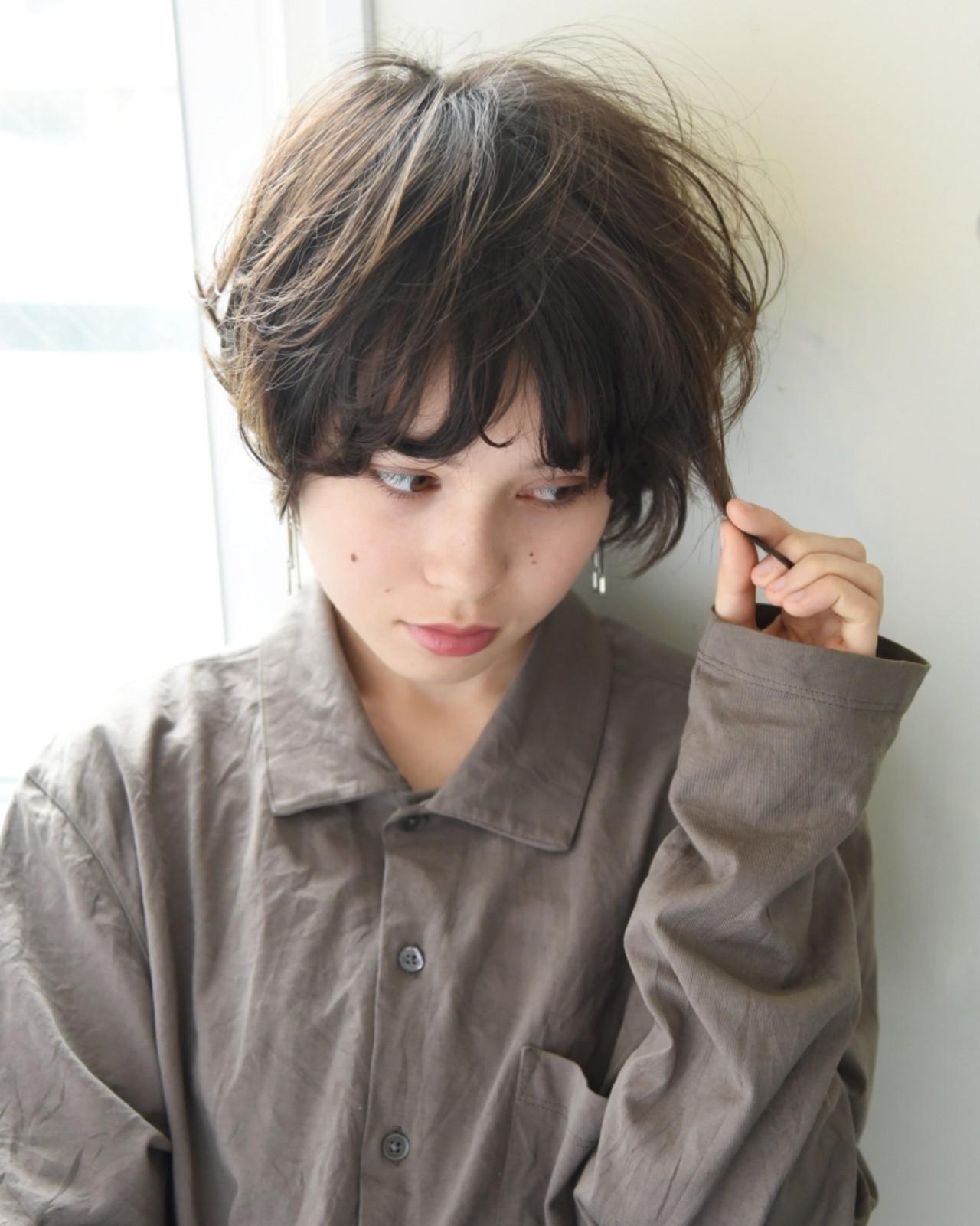 ナチュラル 前髪あり パーマ 色気 ヘアスタイルや髪型の写真・画像