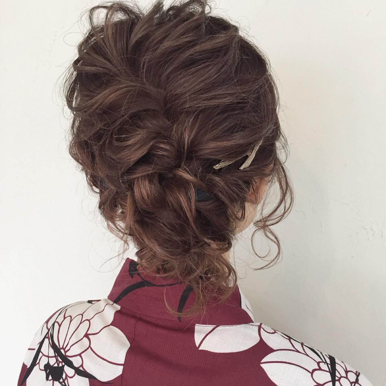 デート お祭り 花火大会 フェミニン ヘアスタイルや髪型の写真・画像 | maco / ange