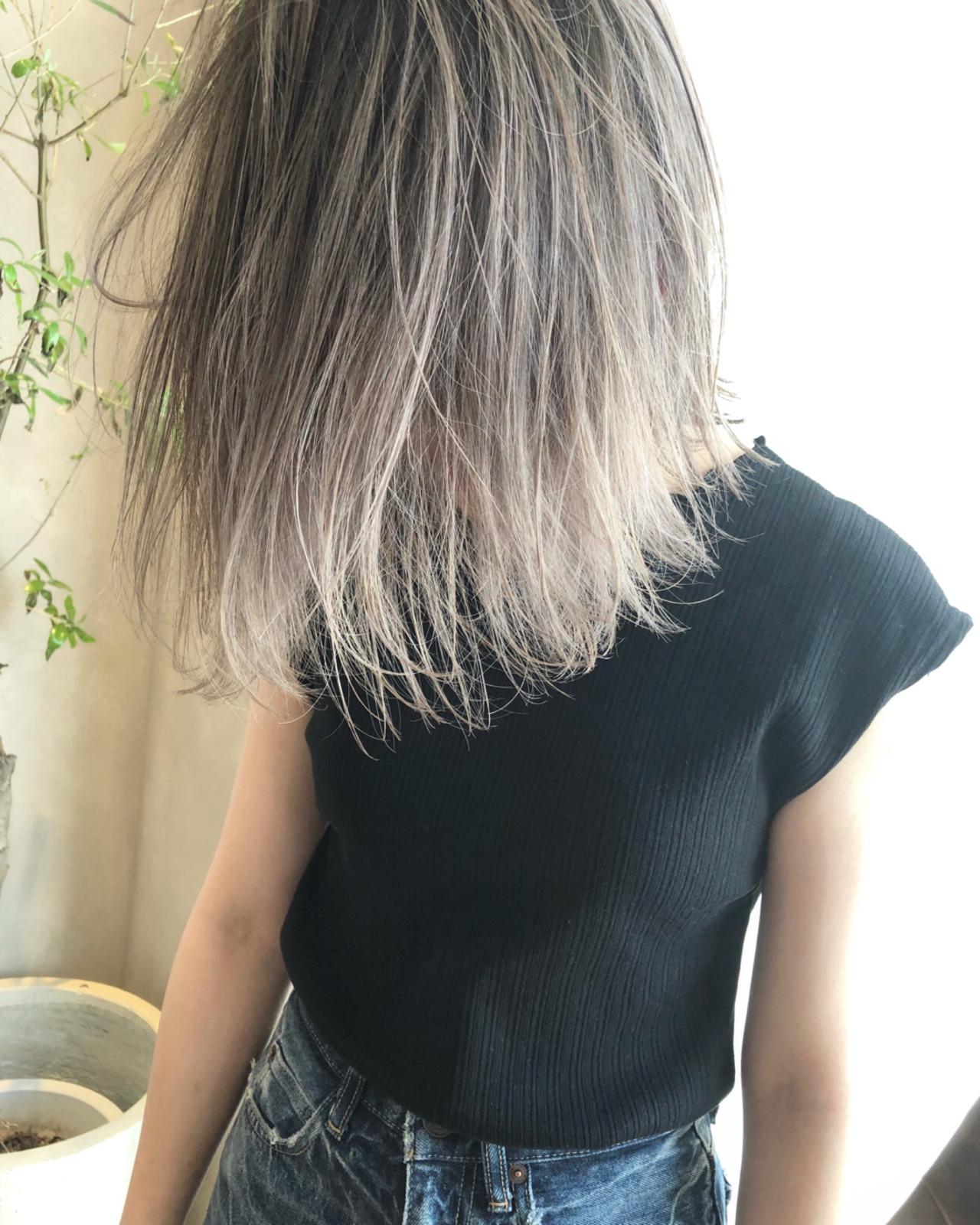 外国人風カラー ストリート ロブ グレージュ ヘアスタイルや髪型の写真・画像 | ALT 森田 正浩 / ALT