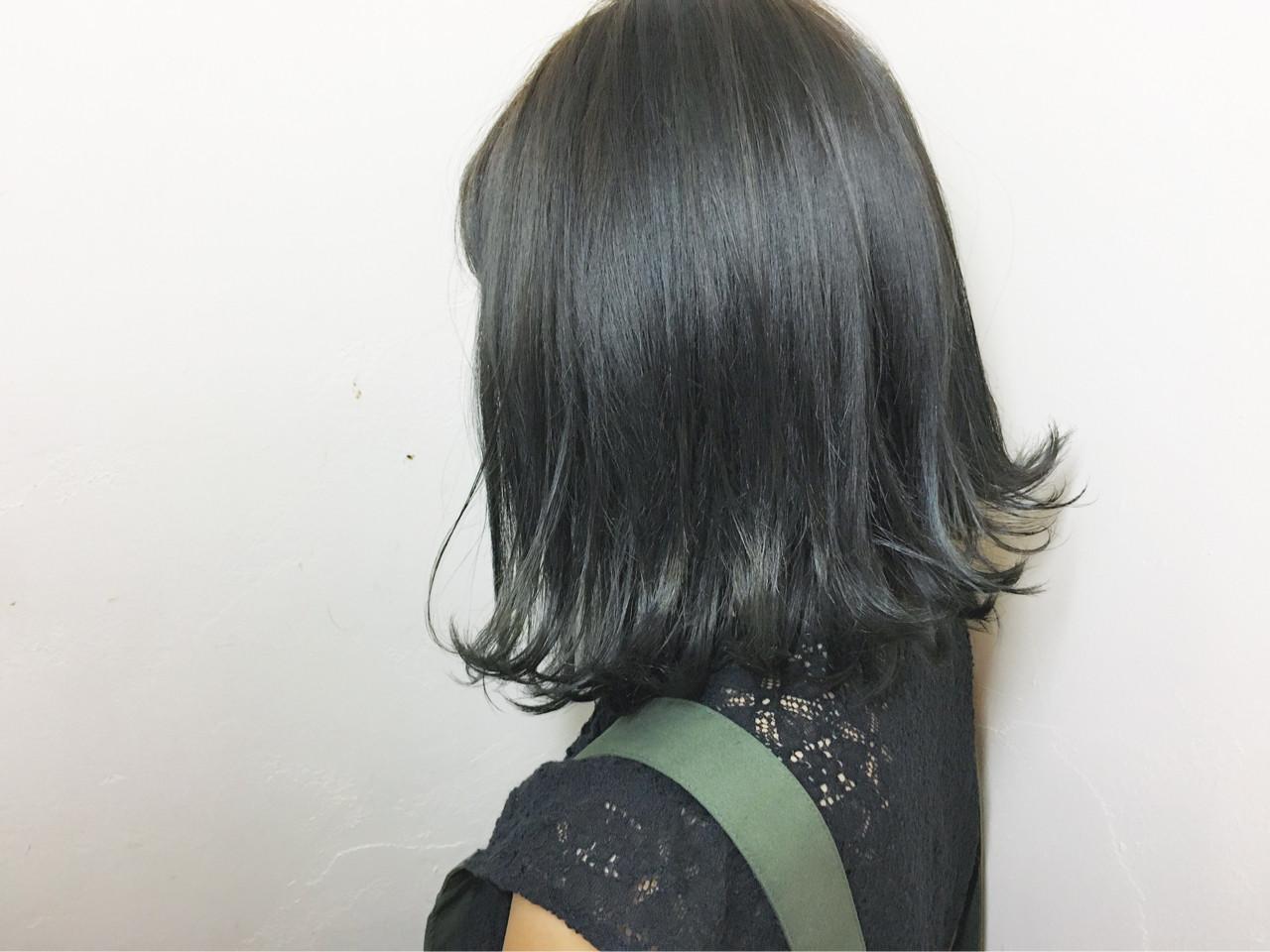 ハイライト モード ボブ 外ハネ ヘアスタイルや髪型の写真・画像 | 須賀 ユウスケ / Rizm
