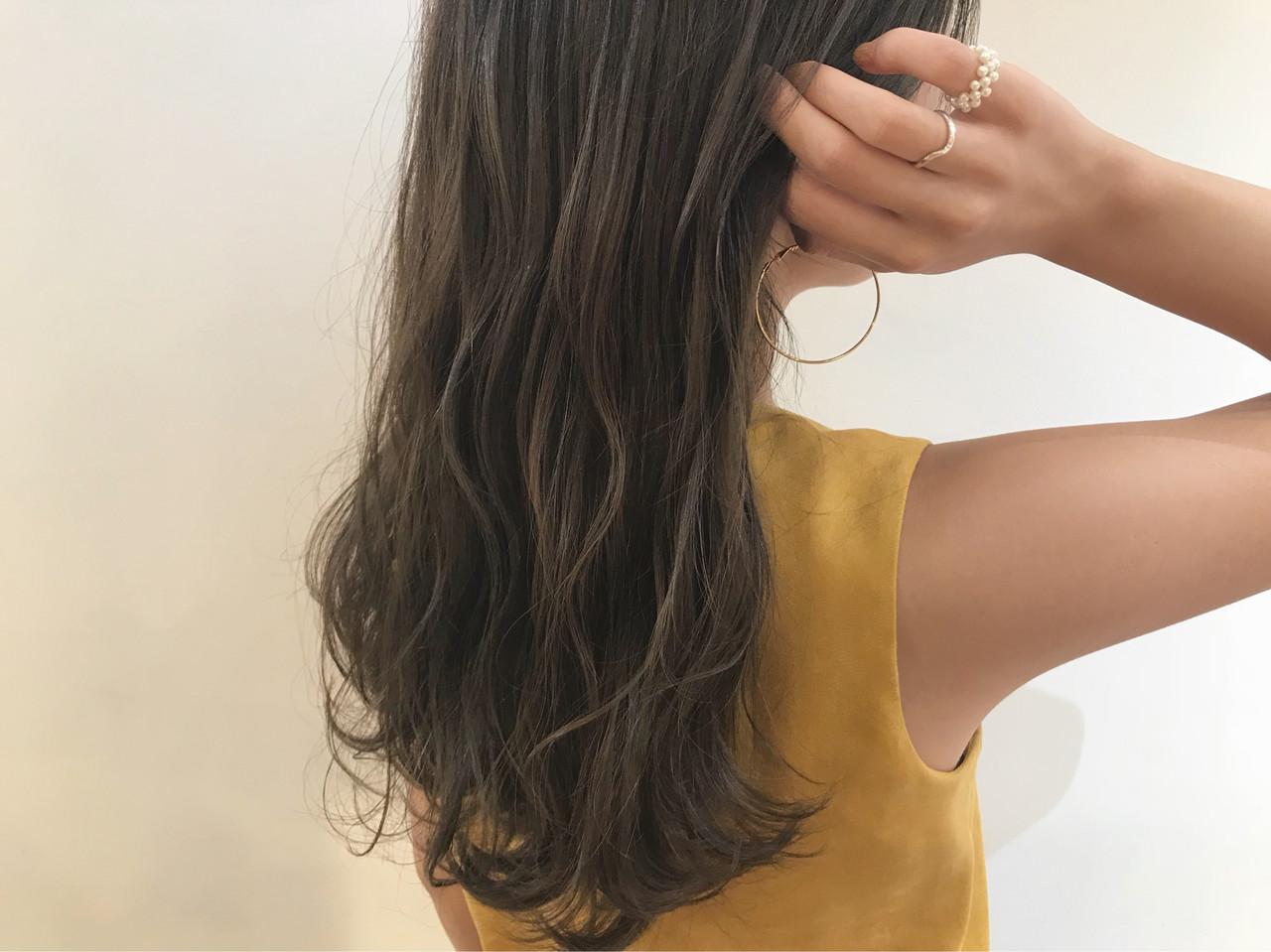 透明感カラー ナチュラル 柔らかパーマ デート ヘアスタイルや髪型の写真・画像 | 倉林 洋美 / GOOD DAY HAIR