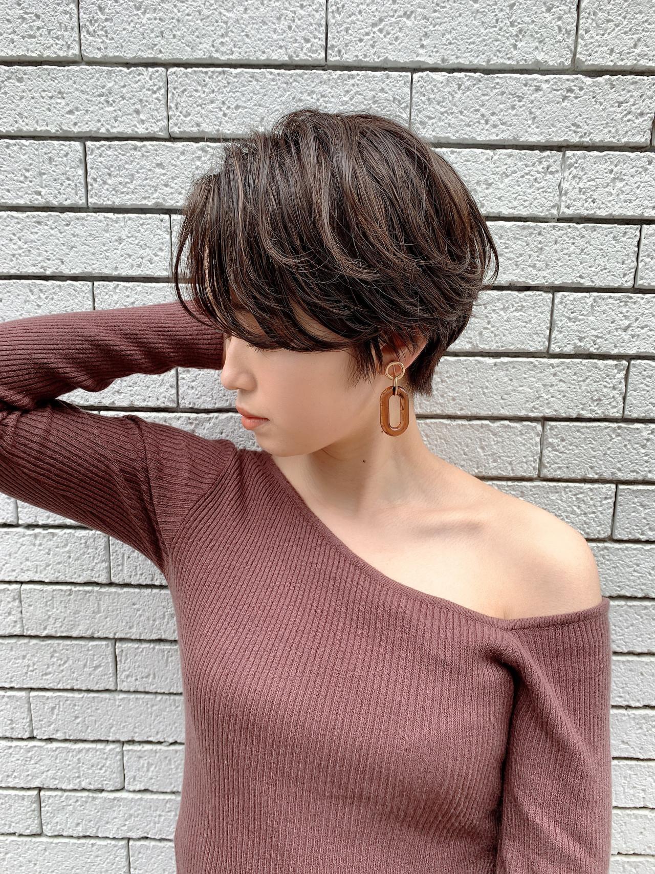 ナチュラル ショート 横顔美人 小顔ヘア ヘアスタイルや髪型の写真・画像   山口 健太 / Lond ange