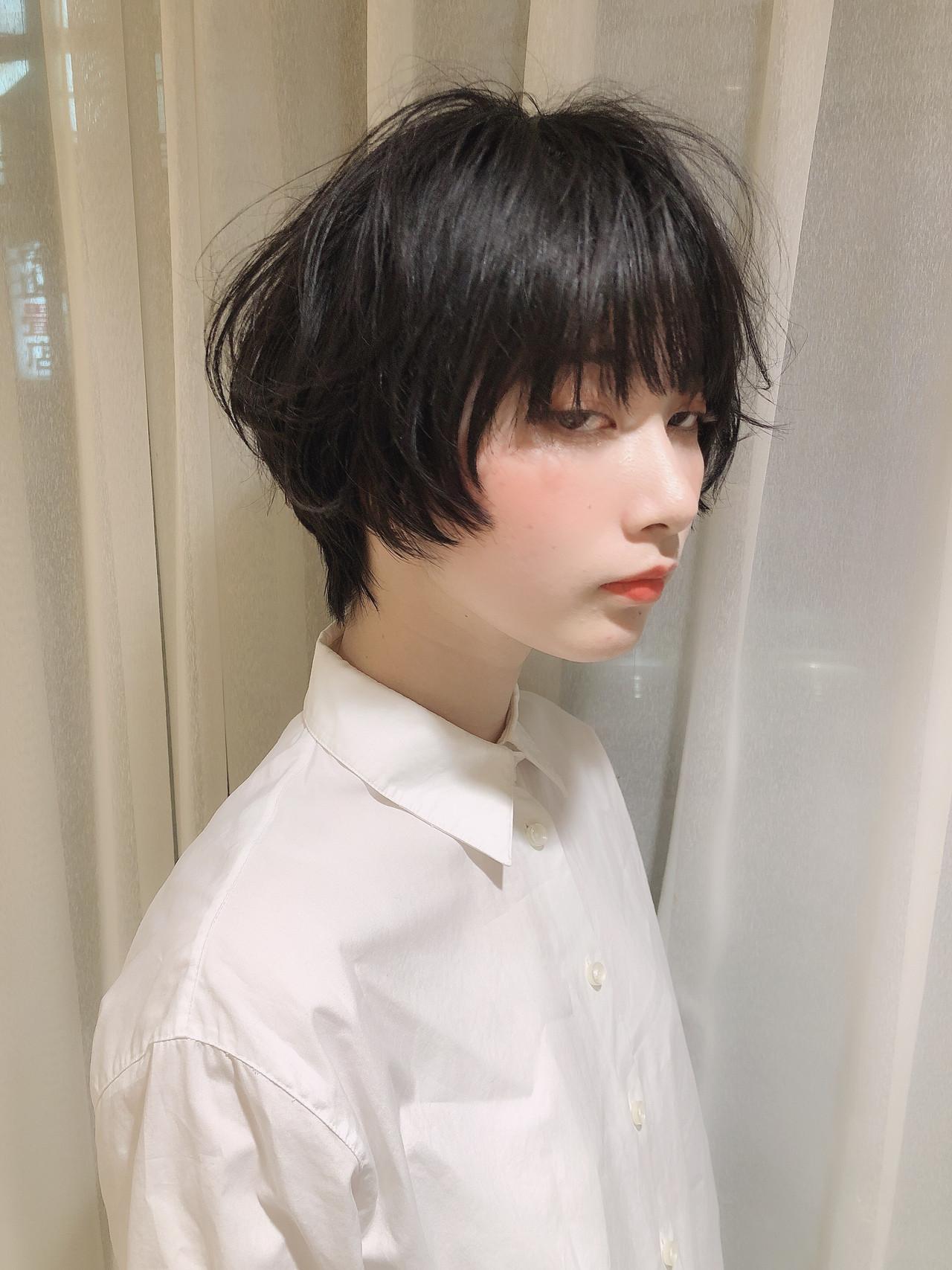 モード パーマ ショート デート ヘアスタイルや髪型の写真・画像 | 近藤雄太/ショート / Neolive CiroL.