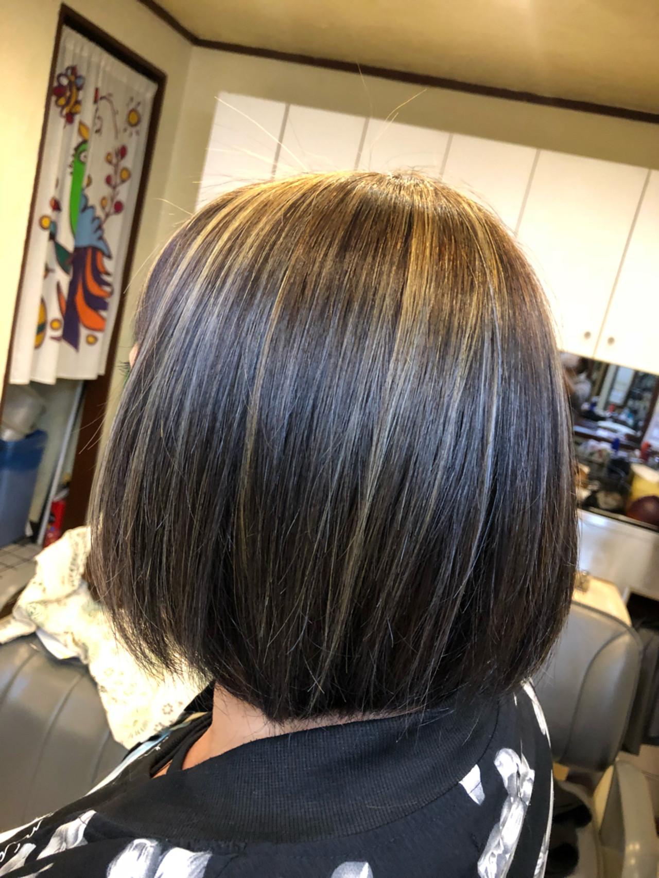 グレージュ アッシュ 外国人風 ハイライト ヘアスタイルや髪型の写真・画像   TMe hair/tomoe chiba / TMe hair川崎小田