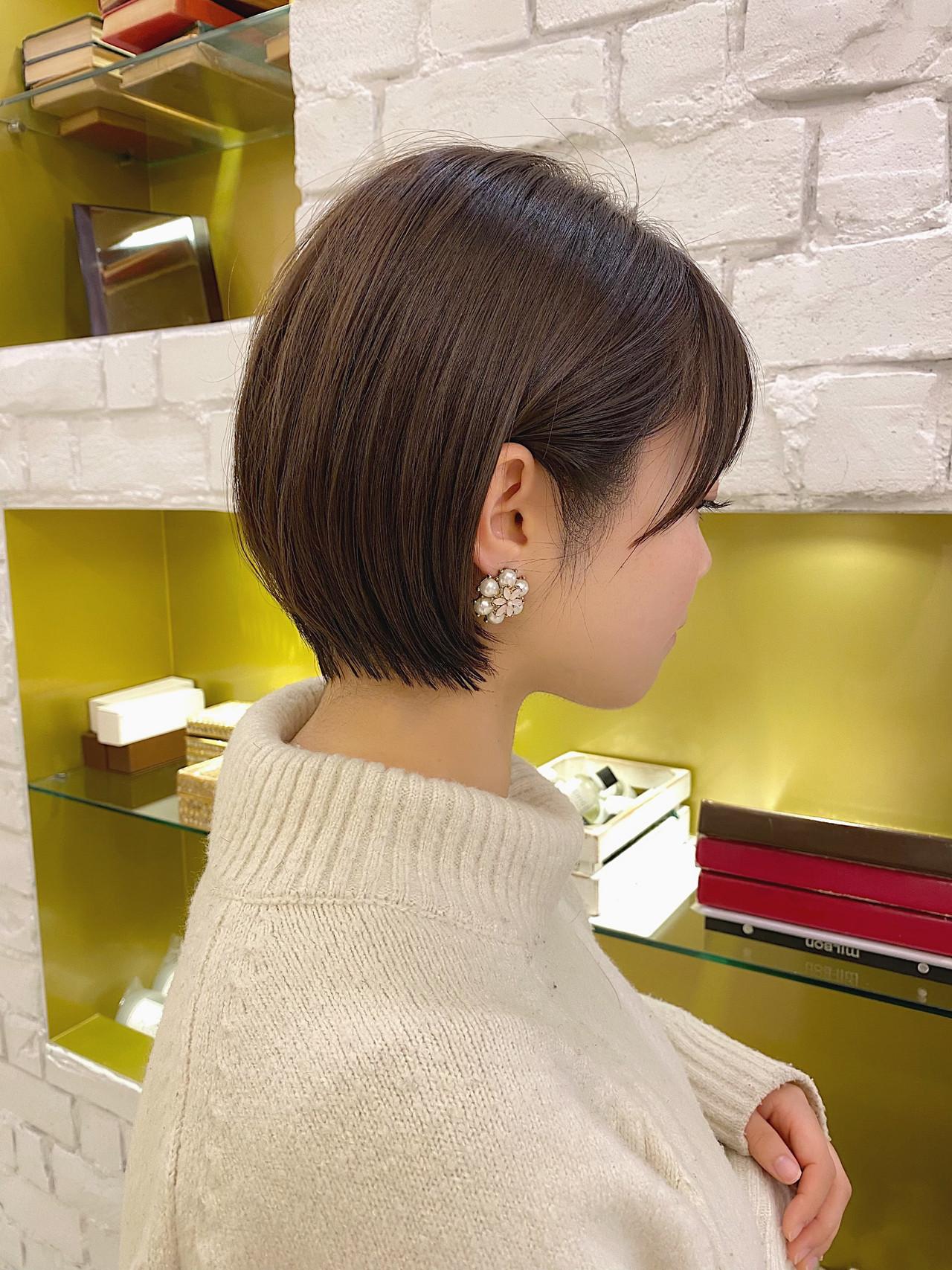 ミニボブ ベリーショート ショートヘア ショートボブ ヘアスタイルや髪型の写真・画像 | 石川有里彩 / リュドール栄