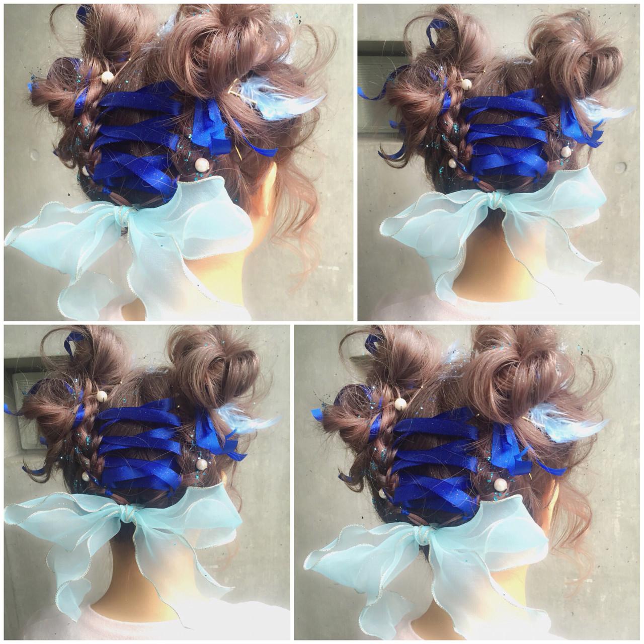 ミディアム ゆるふわ ハーフアップ ヘアアレンジ ヘアスタイルや髪型の写真・画像 | MOTAI / Wille / Wille