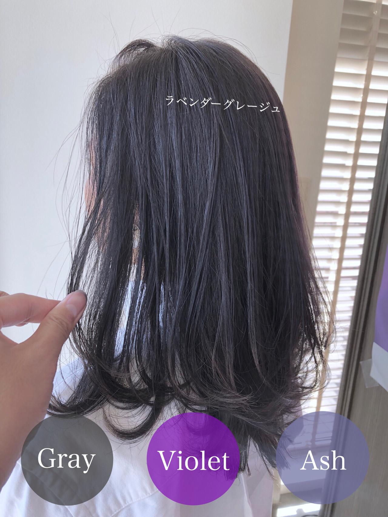 ナチュラル ヘアカラー グレージュ ブリーチ ヘアスタイルや髪型の写真・画像