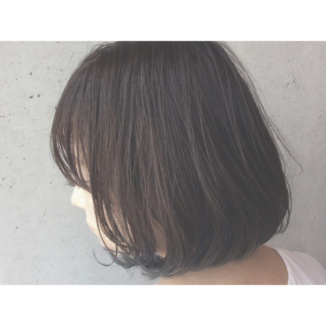 ボブ グラデーションカラー 暗髪 フェミニン ヘアスタイルや髪型の写真・画像
