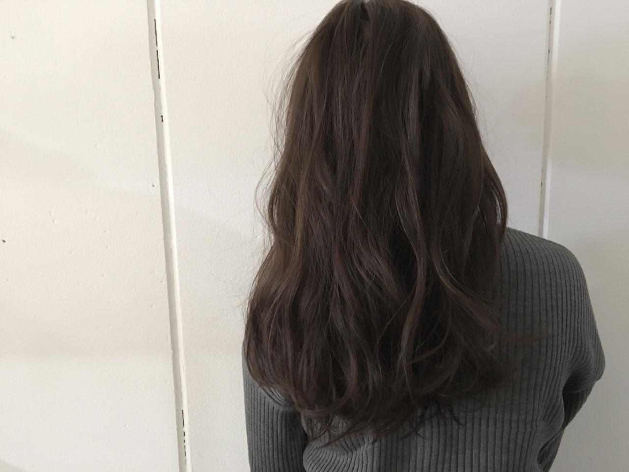 抜け感 ロング アッシュ 外国人風 ヘアスタイルや髪型の写真・画像 | 杉谷 将也 / DiLL / DiLL