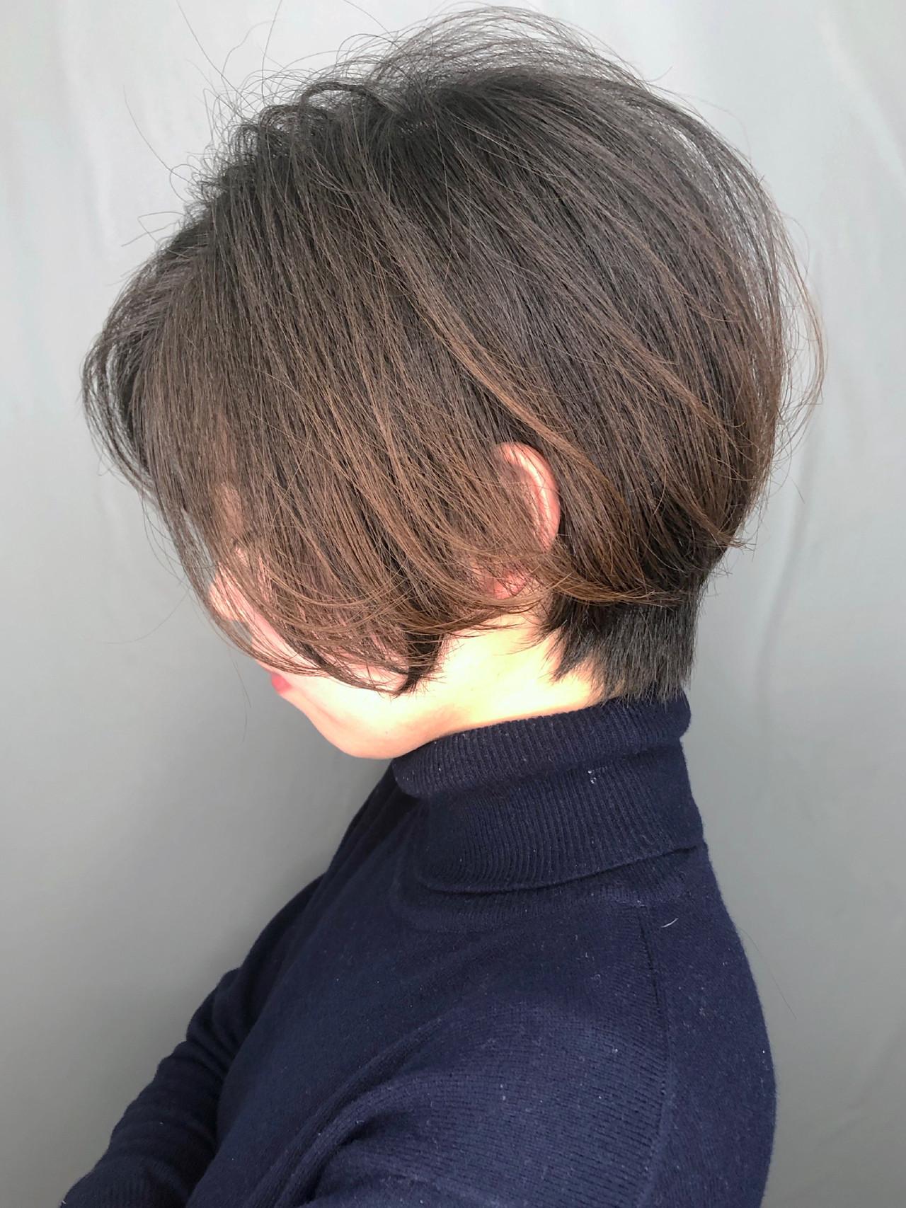 ナチュラル ショートボブ 大人かわいい アイロンワーク ヘアスタイルや髪型の写真・画像 | 日平 海 / モリオフロムロンドン 池袋店