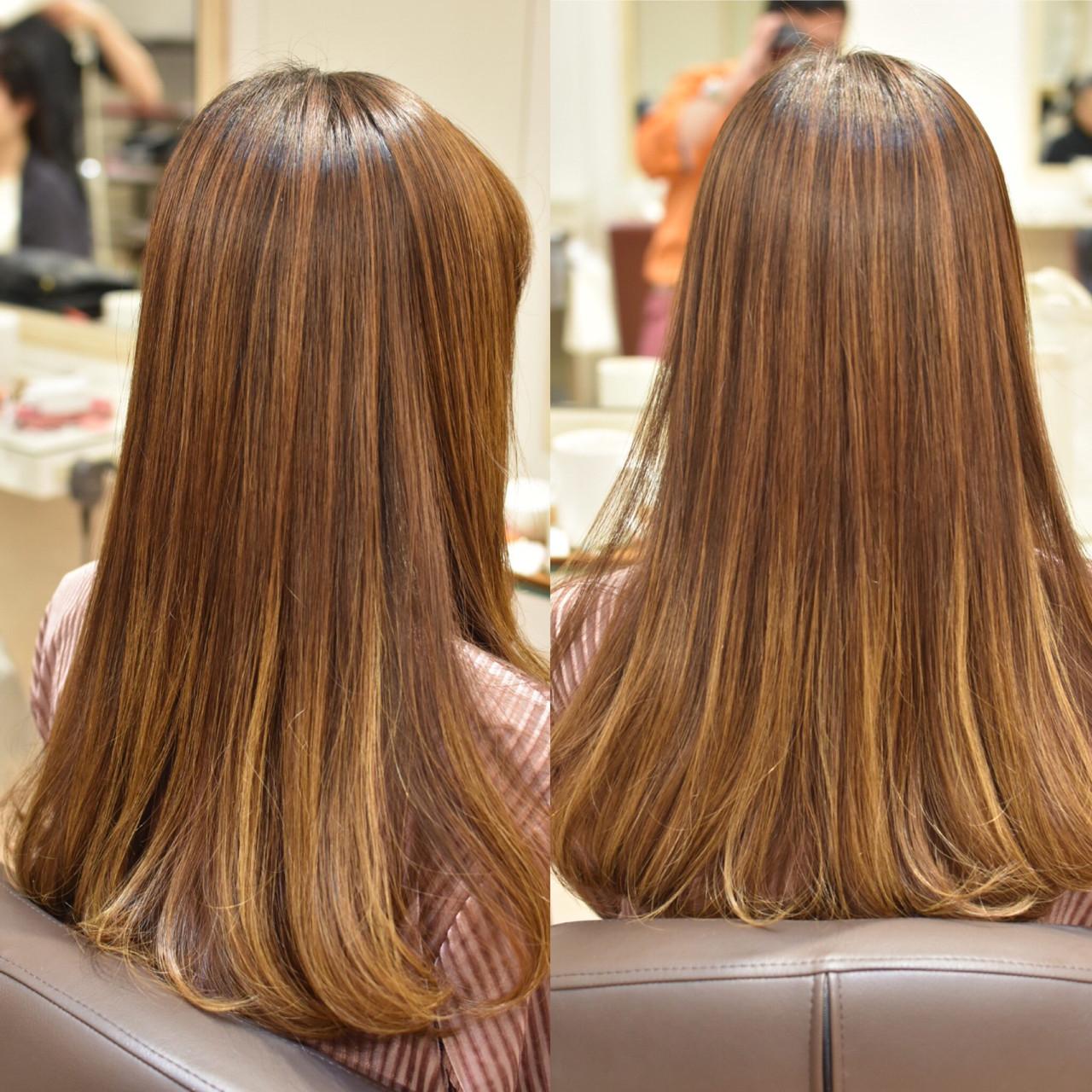 フェミニン 艶髪 ロング パーマ ヘアスタイルや髪型の写真・画像