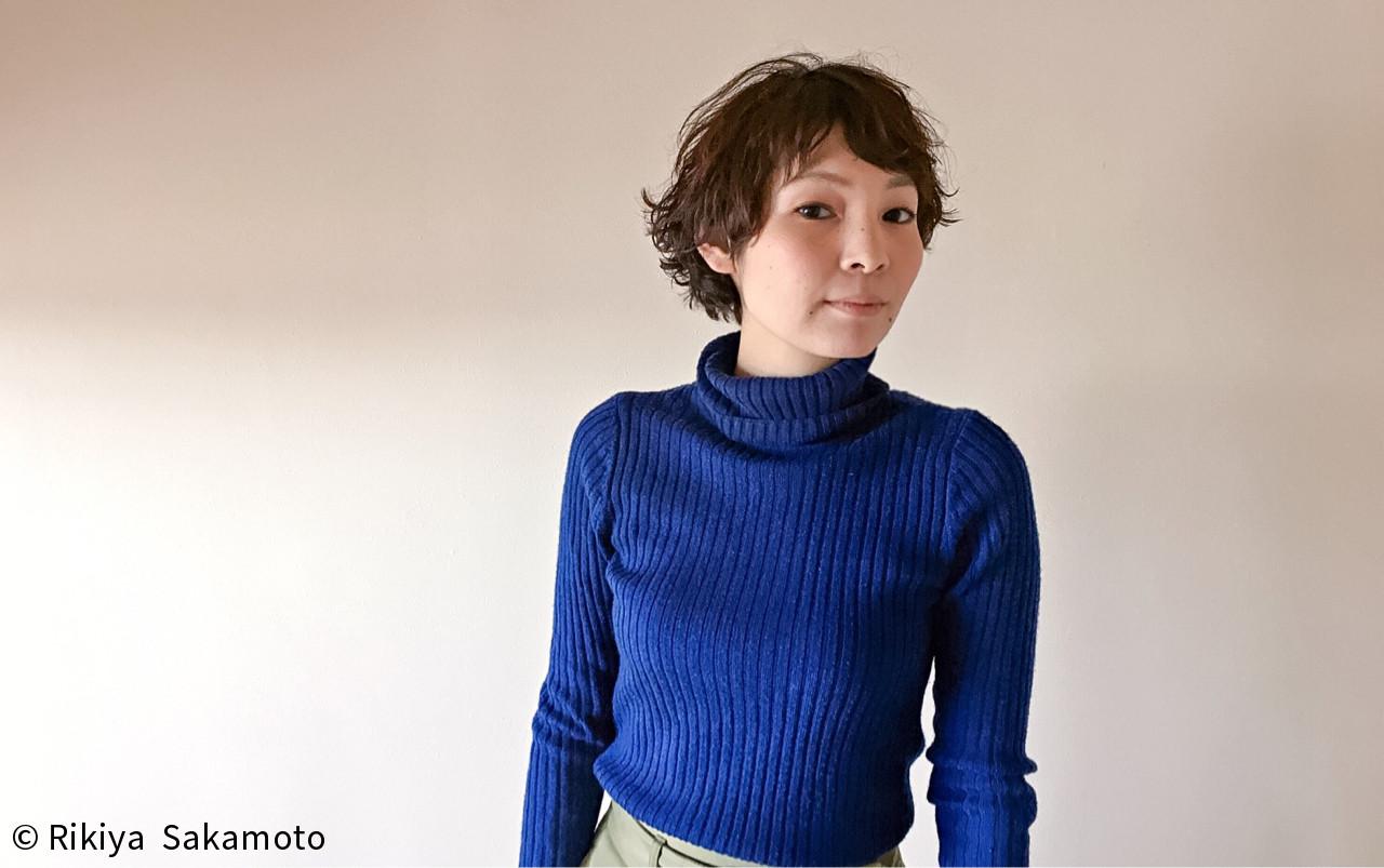 パーマ マッシュ 外国人風 小顔 ヘアスタイルや髪型の写真・画像