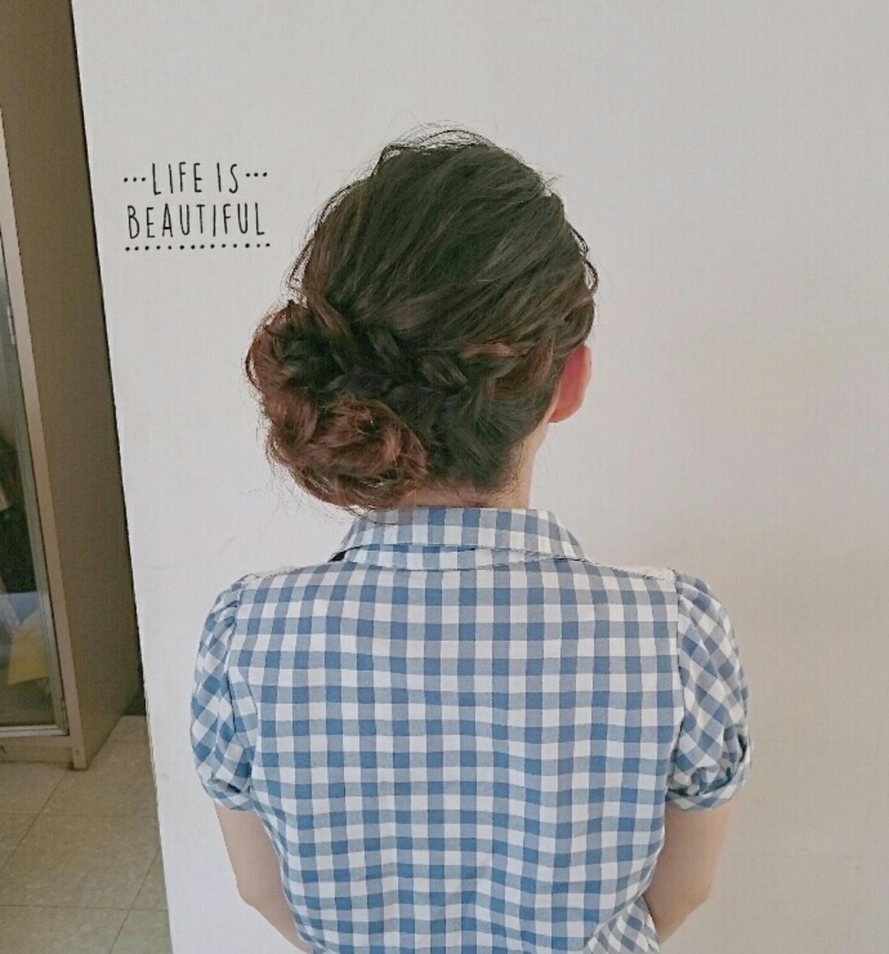 結婚式 セミロング ブライダル ヘアアレンジ ヘアスタイルや髪型の写真・画像 | 美和遥 FITZ(フィッツ) / 富士美容院 FITZ (フィッツ)