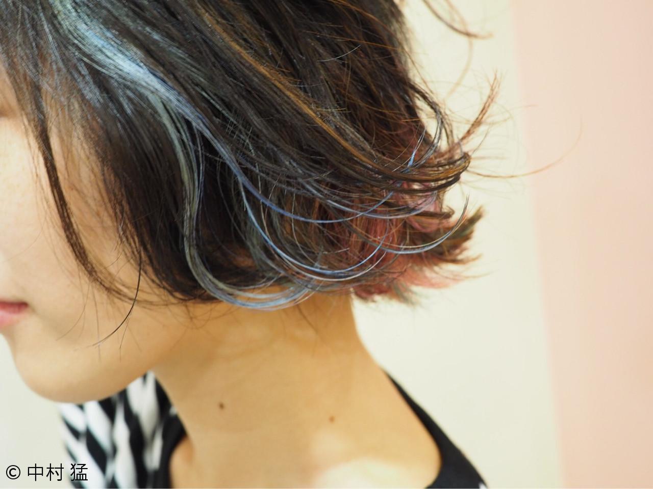 ガーリー ウェットヘア 外ハネ インナーカラー ヘアスタイルや髪型の写真・画像 | 中村 猛 / MODE K's 塚本店 (モードケイズ)