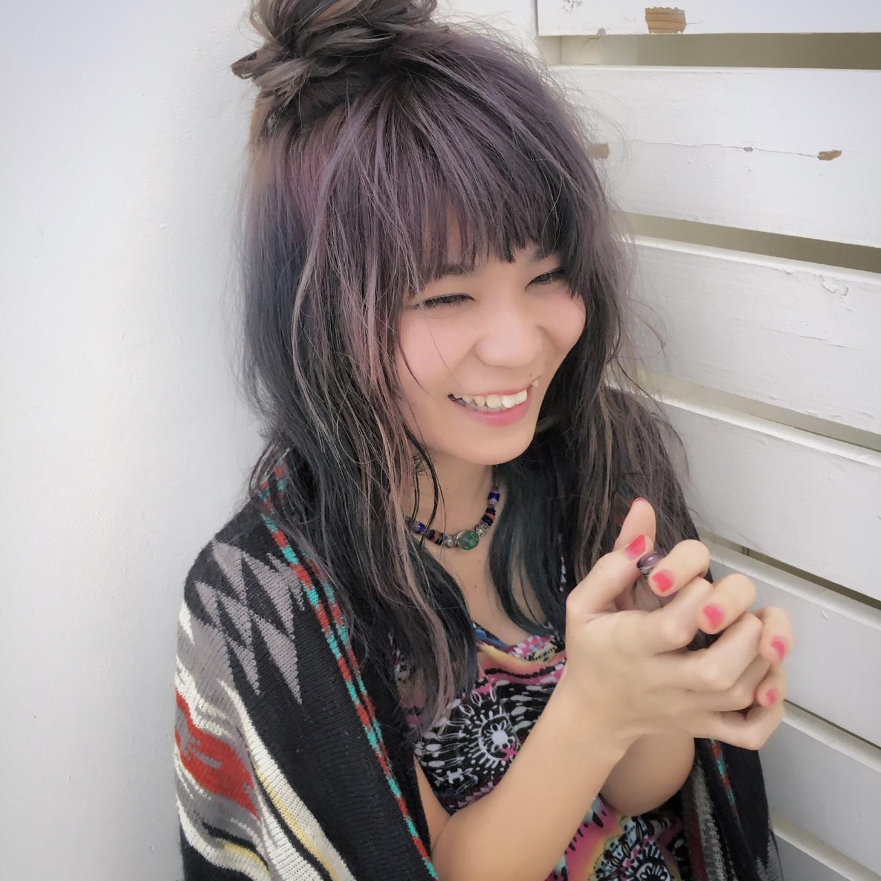 セミロング ヘアアレンジ 外国人風 波ウェーブ ヘアスタイルや髪型の写真・画像 | Yuuta Asato / Moana by HEADLIGHT 沖縄東崎店