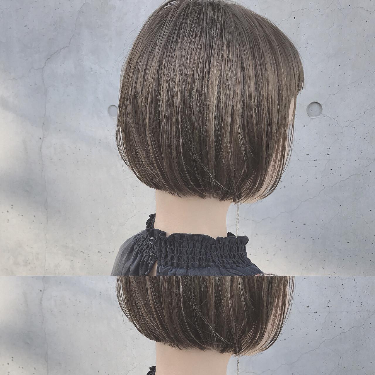 モード 外国人風 ストレート ハイライト ヘアスタイルや髪型の写真・画像