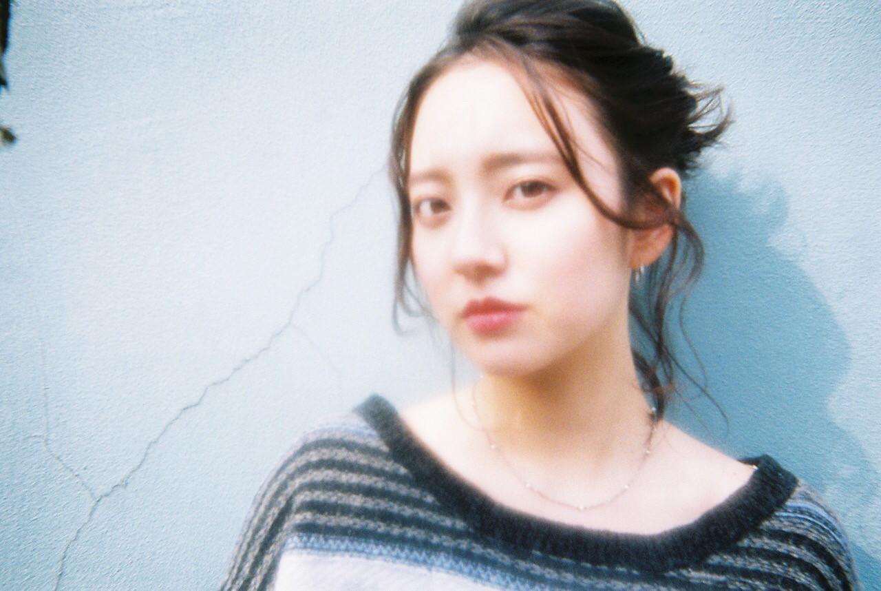 ヘアアレンジ 外国人風 ハーフアップ ミディアム ヘアスタイルや髪型の写真・画像 | katsutoshi nambu / MAGNOLiA