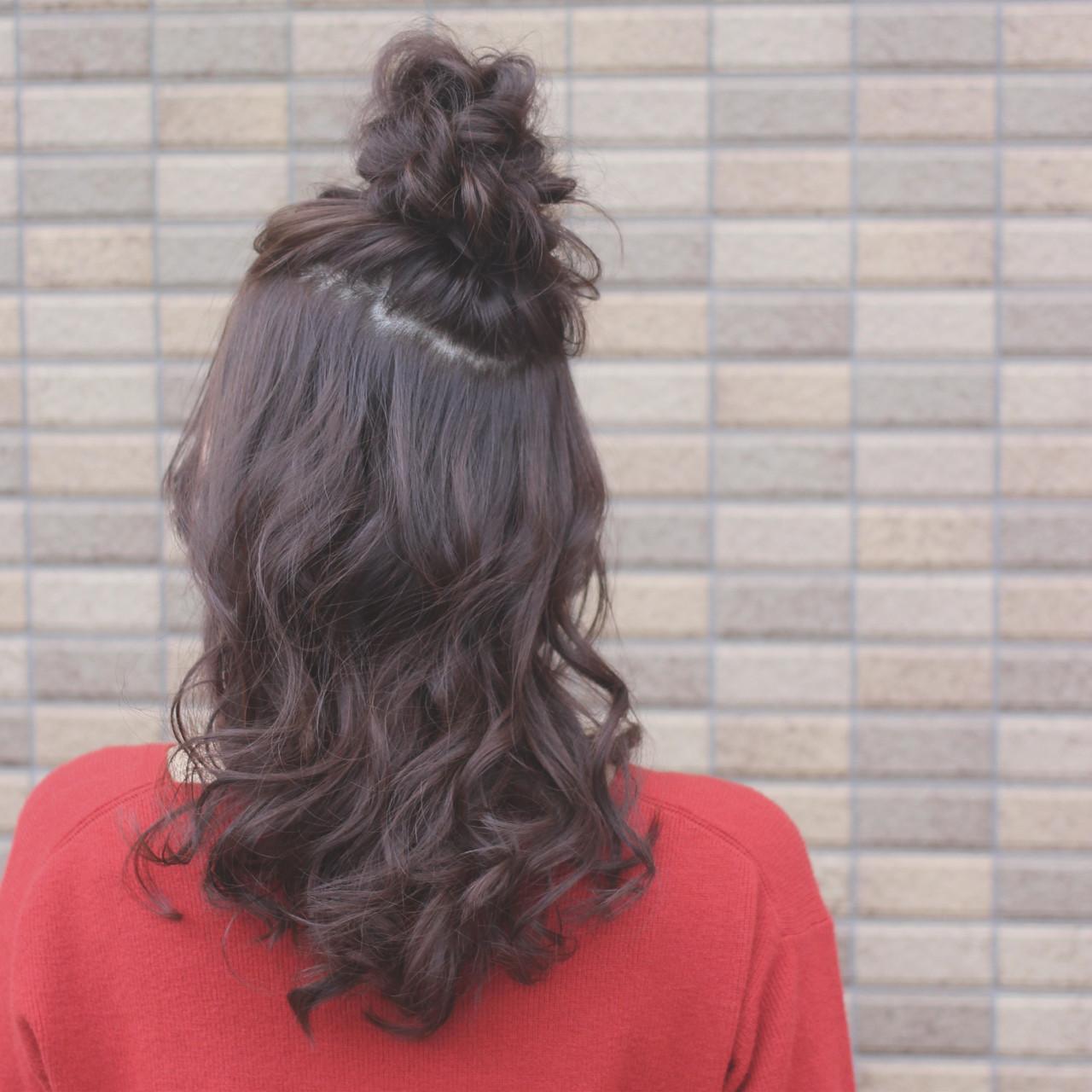 セミロング 簡単ヘアアレンジ ショート ゆるふわ ヘアスタイルや髪型の写真・画像 | SHOTA / cherir