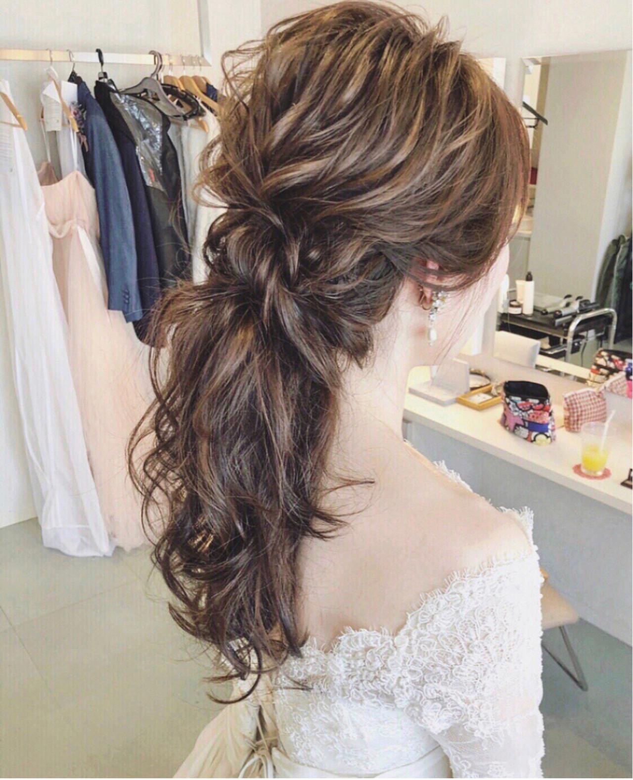 大人女子 ヘアアレンジ 結婚式 ナチュラル ヘアスタイルや髪型の写真・画像