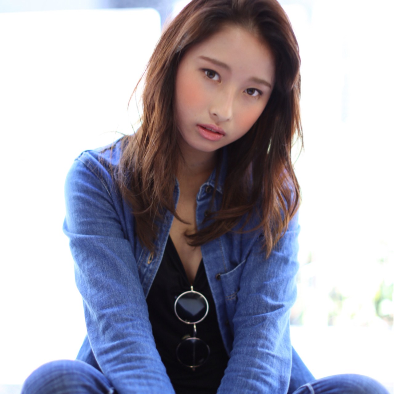 暗髪 大人かわいい 大人女子 ストリート ヘアスタイルや髪型の写真・画像