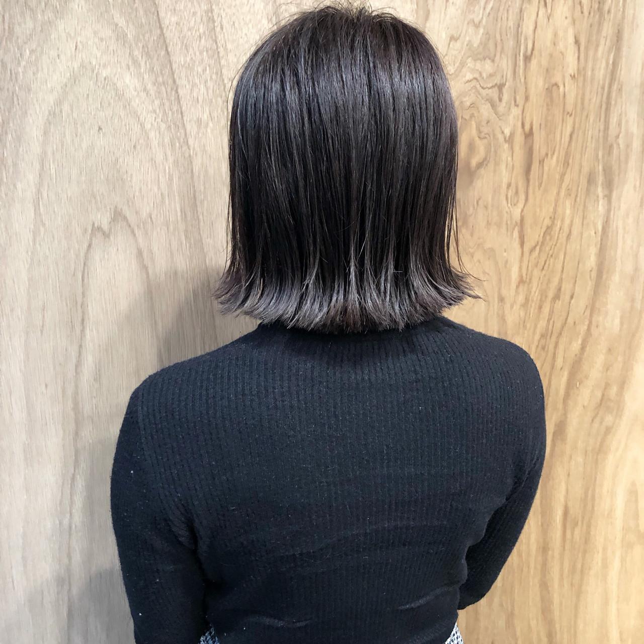 外ハネボブ ショートボブ ボブ ナチュラル ヘアスタイルや髪型の写真・画像