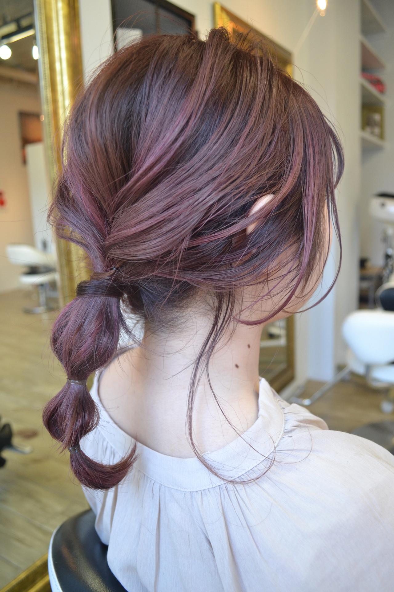 ストリート ミディアム ハイトーン ラベンダーピンク ヘアスタイルや髪型の写真・画像 | ツヤマトモハル / NUDE