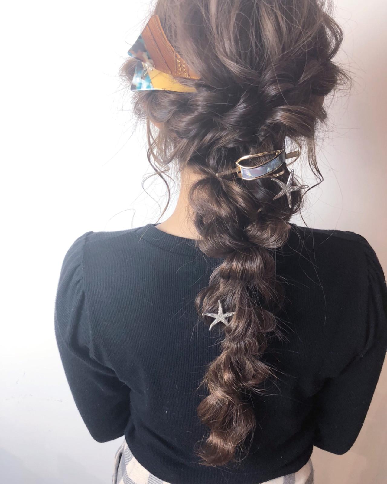 ナチュラル 簡単ヘアアレンジ デート ロング ヘアスタイルや髪型の写真・画像   山口 卓哉/earth北浦和店 / Hair&Make EARTH北浦和店