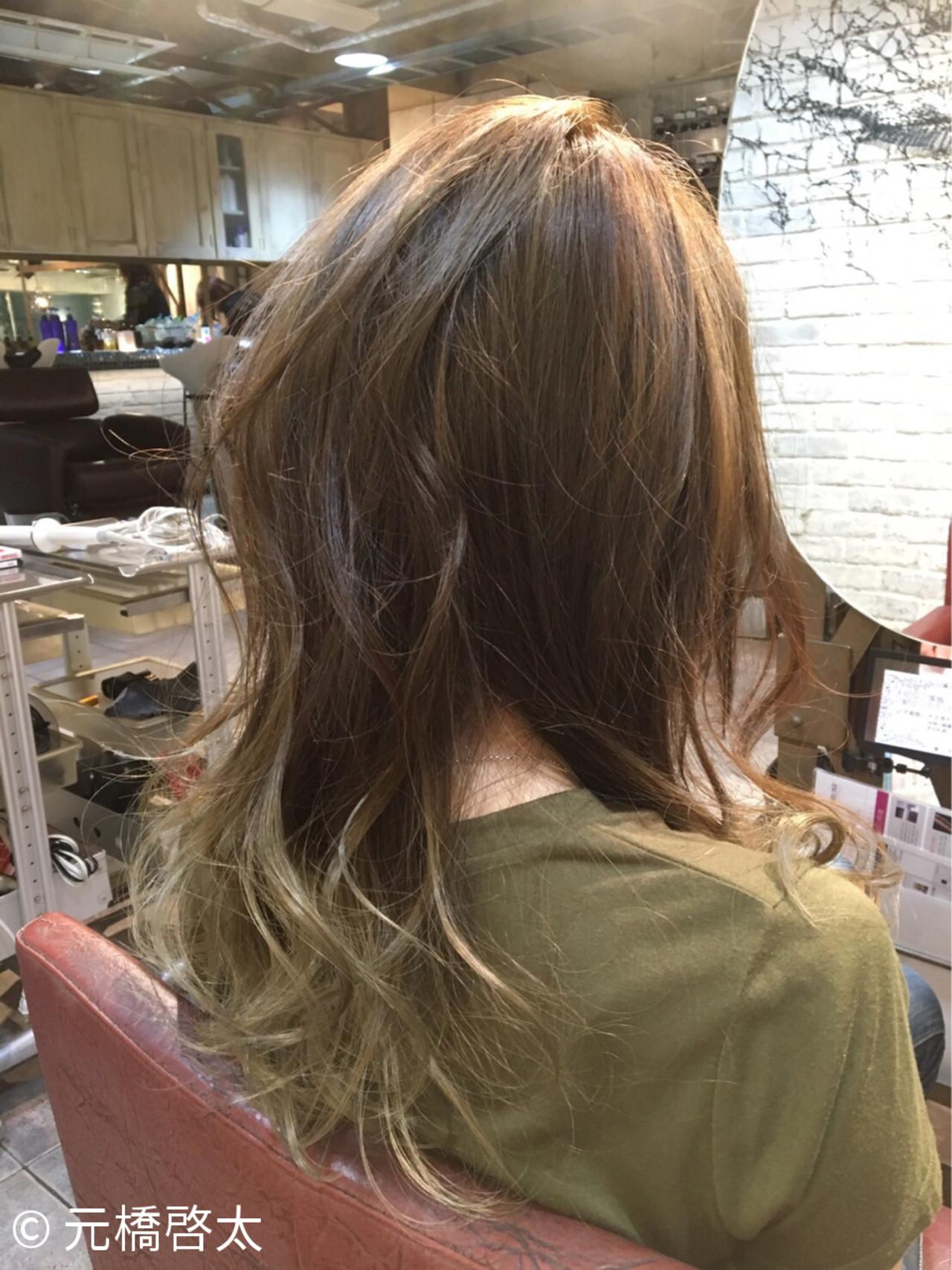 ストリート グラデーションカラー ロング 外国人風 ヘアスタイルや髪型の写真・画像 | 元橋啓太 / snob
