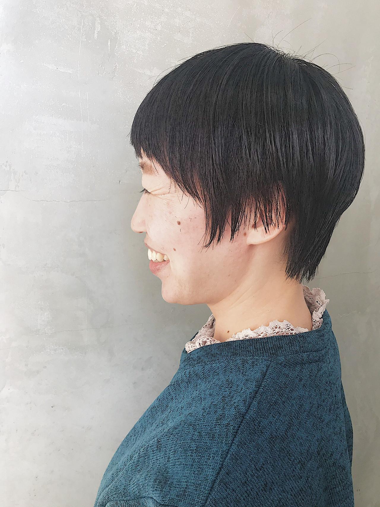簡単スタイリング 似合わせカット ベリーショート ナチュラル ヘアスタイルや髪型の写真・画像 | オカダアサミ / KILLA