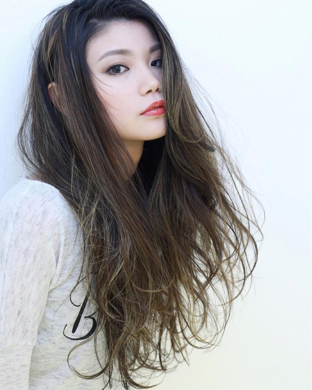 ヘアアレンジ ストリート グラデーションカラー 外国人風 ヘアスタイルや髪型の写真・画像