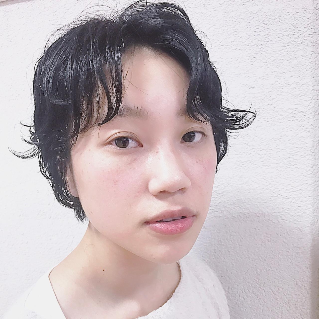 ナチュラル 黒髪 こなれ感 ショート ヘアスタイルや髪型の写真・画像   熊谷 公亮 / Fits core