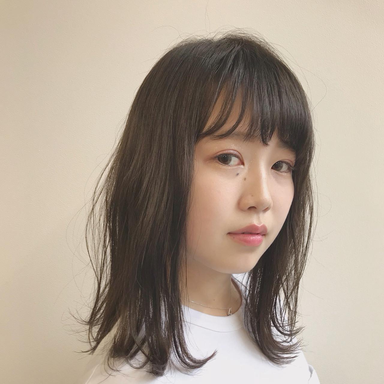 前髪あり デート オフィス ワンカール ヘアスタイルや髪型の写真・画像