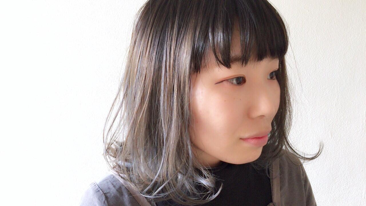 ボブ アンニュイほつれヘア 外国人風カラー ブルージュ ヘアスタイルや髪型の写真・画像
