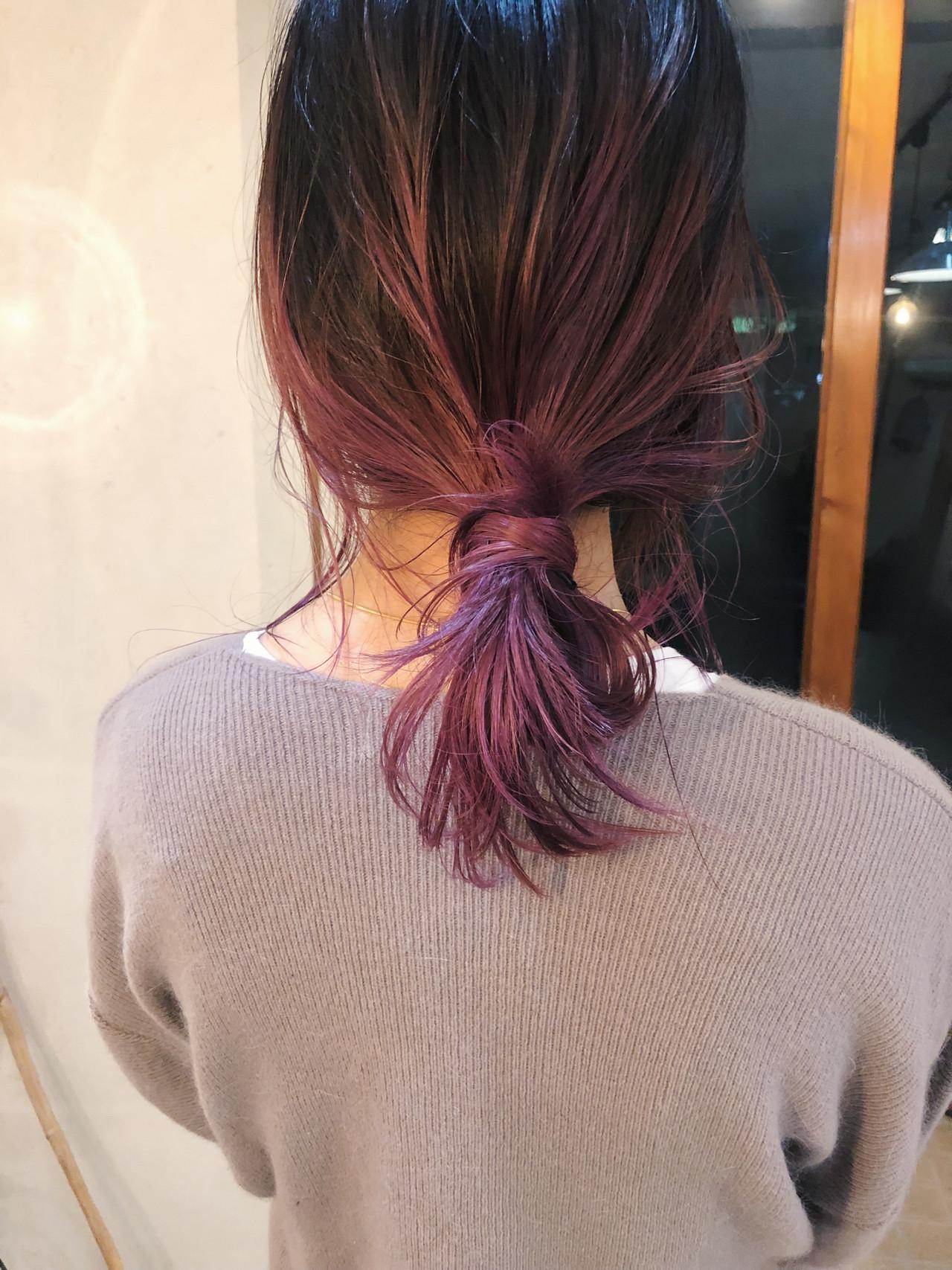 ストリート 簡単ヘアアレンジ アンニュイほつれヘア ラベンダーカラー ヘアスタイルや髪型の写真・画像 | 原木翔太 / lufun hair design  ルファン